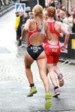 Duel tussen Kurikova en Annen--het lopen Stock Afbeelding