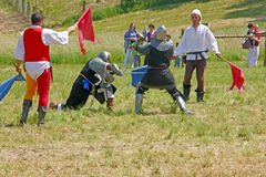 The duel of two knights Royalty Free Stock Image