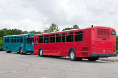 Dueling Buses Royalty Free Stock Photography