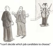Dueling candidates Royalty Free Stock Images