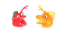 Dueling Monsters. Two Monsters stock images