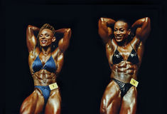 Dueling Muscle Gals Stock Images