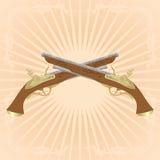 Dueling pistols Stock Photos