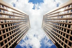 Dueling skyscrapers of Boston Royalty Free Stock Images