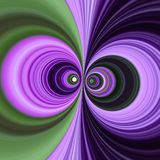 Dueling swirls. Two purple and green swirls looking as eyes royalty free stock images