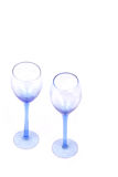 Dueling Wine Glasses. Two Glasses Stock Photography