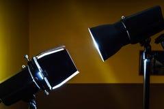 Duell av två pråliga ljus för foto Fotografering för Bildbyråer