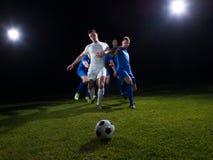 Duell för fotbollspelare Arkivbild