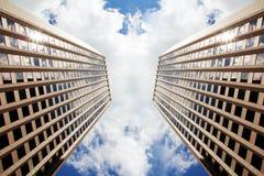 Duellera skyskrapor av Boston Royaltyfria Bilder