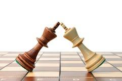 Duello di scacchi dei re Immagini Stock