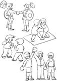 Duelo ilustração stock