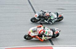 duelo da classe 2009 250cc para a coroa do campeonato do mundo Imagens de Stock