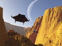 Duelo de la ciencia ficción (2) Imagenes de archivo