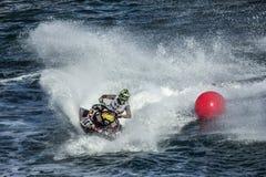 Duelo de la competencia de la raza de esquí del jet fotografía de archivo libre de regalías