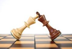 Duelo del ajedrez de los reyes Imágenes de archivo libres de regalías