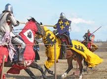 Duelo Knightly Imagens de Stock