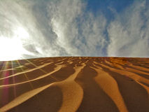 Duen Blaster. The Sun blasts over dunes Royalty Free Stock Images