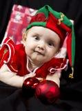 Duende 2 de la Navidad de la niña Fotos de archivo libres de regalías