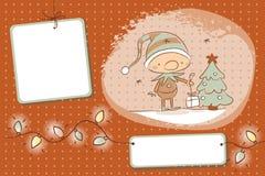 Duende de la Navidad Imágenes de archivo libres de regalías