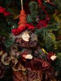 Duende de la Navidad Fotografía de archivo