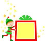 Duende del regalo de la Navidad Imágenes de archivo libres de regalías