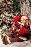 Duende do Natal Fotos de Stock