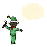 duende do Natal dos desenhos animados Foto de Stock Royalty Free