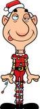 Duende do Natal dos desenhos animados Tangled acima Imagens de Stock