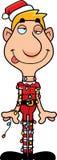 Duende do Natal dos desenhos animados Tangled acima Imagem de Stock Royalty Free