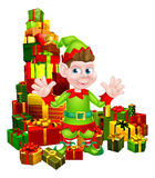Duende dos presentes do Natal ilustração stock