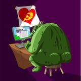 Duende gordo de Internet stock de ilustración