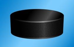 Duende malicioso de hockey en un azul Imágenes de archivo libres de regalías