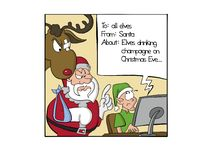 Duende que escribe un correo electrónico para Papá Noel ilustración del vector