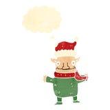duende retro do Natal dos desenhos animados Imagem de Stock