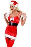 Duende 'sexy' do Natal Fotos de Stock
