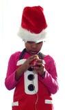 Duende solo triste de la Navidad Fotos de archivo