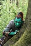 Duende verde justo de la fantasía Imagen de archivo