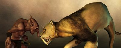 Duende y Saber Tooth libre illustration