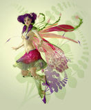 Duendecillo púrpura stock de ilustración