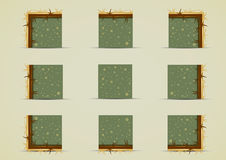 Duendes à terra com grama amarela para criar o jogo de vídeo Ilustração Stock