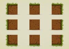 Duendes à terra com grama para criar o jogo de vídeo Foto de Stock Royalty Free