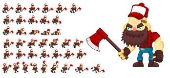 Duendes animados do caráter dos campônios ilustração do vetor