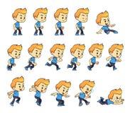 Duendes azuis do jogo do menino da camisa ilustração royalty free