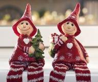 Duendes de la Navidad Fotos de archivo libres de regalías