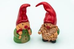 Duendes de la Navidad o gnomos de la Navidad imagen de archivo