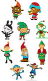 Duendes de Santa Fotos de Stock Royalty Free
