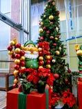 Duendes del árbol de navidad Foto de archivo libre de regalías