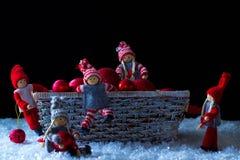 Duendes do Natal Imagens de Stock Royalty Free