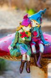 Duendes en el amor tres Imagen de archivo libre de regalías