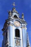 Duernstein教会的塔  库存图片